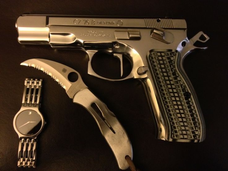 cz75b with custom grips. I WANT!!!Loading that magazine is a pain! Get your Magazine speedloader today! http://www.amazon.com/shops/raeind