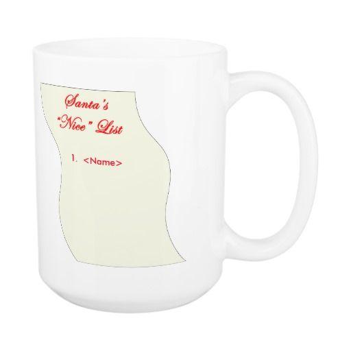 #1 on Santa's Nice List Classic White Coffee Mug