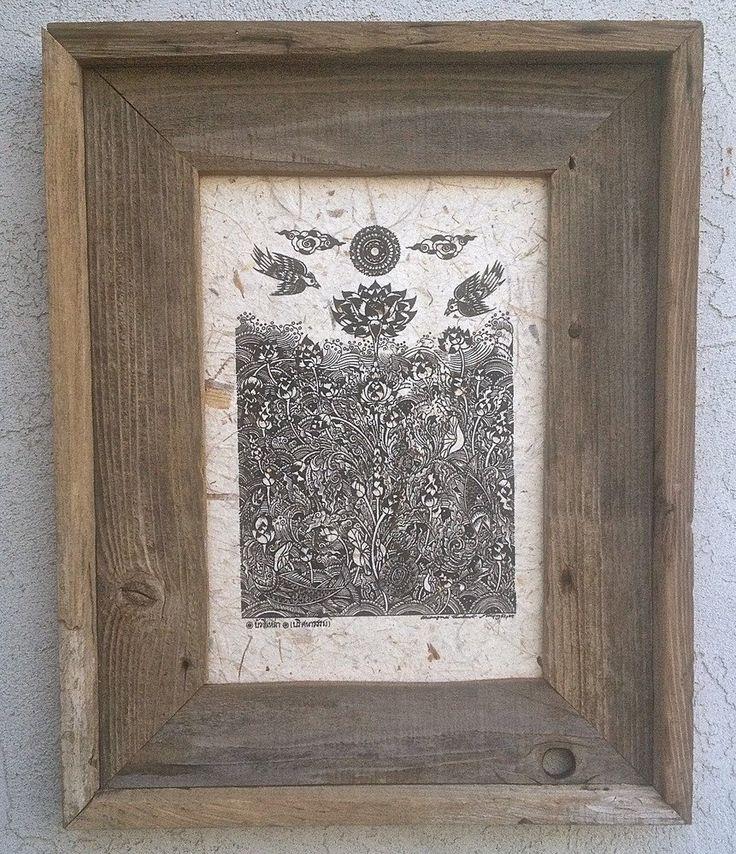 Lotus Garden (Custom Framed)