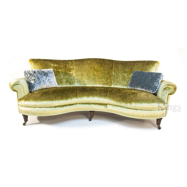 John Sankey #upholstery Matilda Sofa in stunning citrus velvet  http://www.kingsinteriors.co.uk/