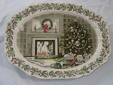 Johnson Brothers China ~ MERRY CHRISTMAS ~ Huge Turkey Platter