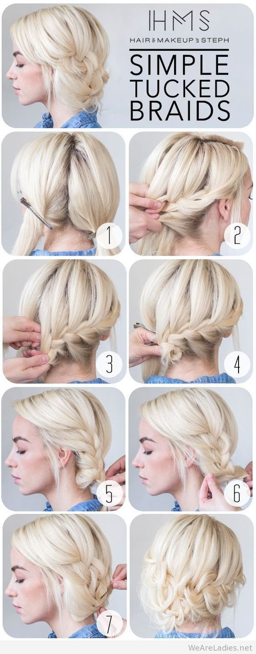 Hair and Make-up by Steph - How To - Tucked Braids on imgfave
