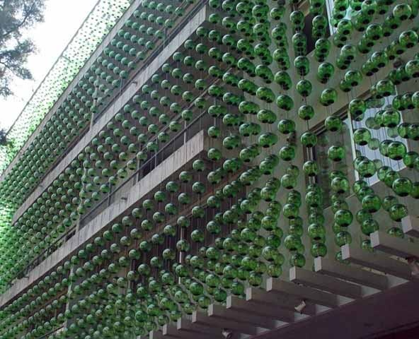 In Quiet Street In Mexico City There Is An Amazing Green Building Covered  With A Façade Comprised Of More Than Hand Blown Glass Spheres Called The  Hesiodo ...