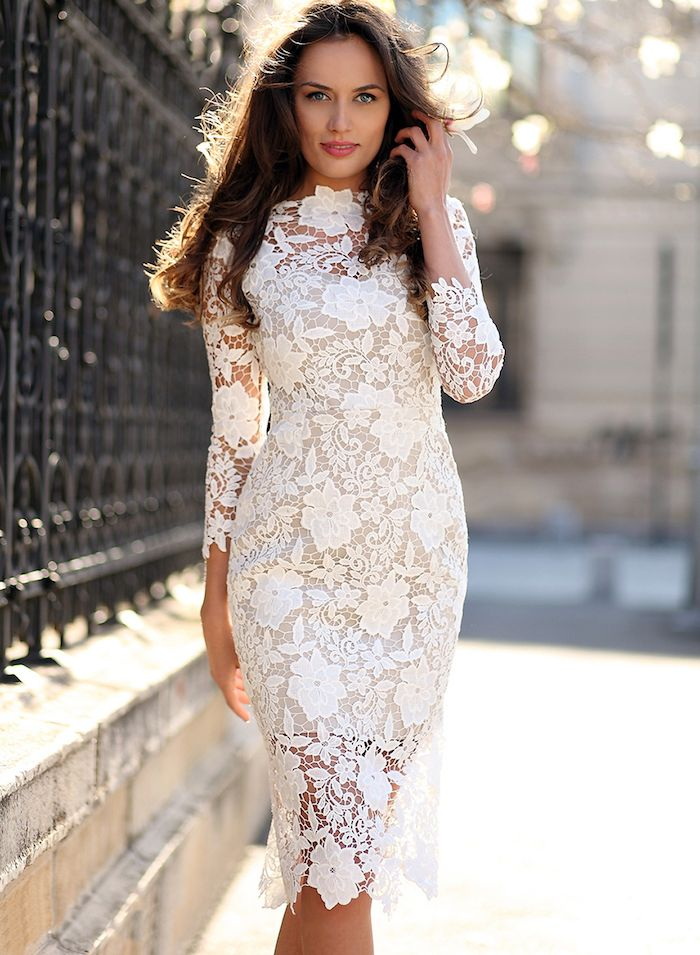 robe blanche femme bapteme