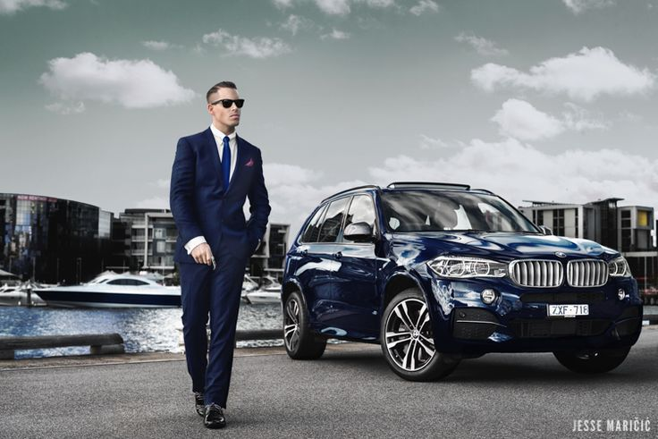 Jesse Maricic Bmw X5 M50d 2014 Campiagn Editorial Photo