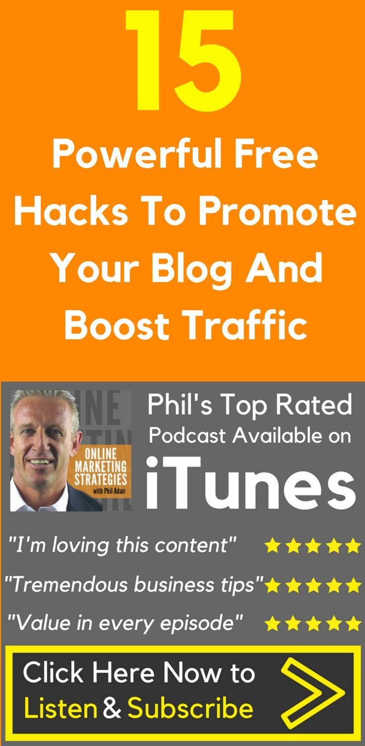 15 Powerful Free Hacks To Promote Your Blog And Boost Traffic  Many people, start blogs with lofty dreams — to build an #audience, leave their day job, land a book deal, or simply to share their genius with the rest of the world.   Getting started is relatively easy, since all it takes to maintain a blog is a little time and some good old-fashioned inspiration. So why do #blogs have a higher #failure #rate than even restaurants?  15 Powerful Free #Hacks To #Promote Your #Blog And #Boost…