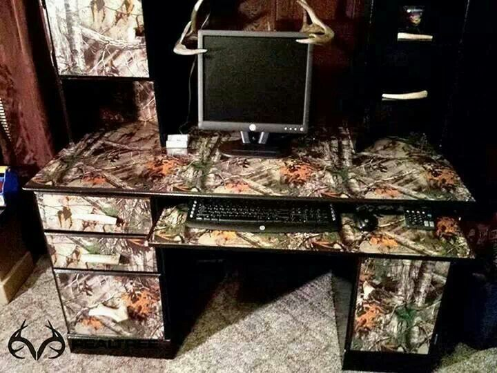 Camo computer desk h0use pinterest desks for Camo kitchen ideas