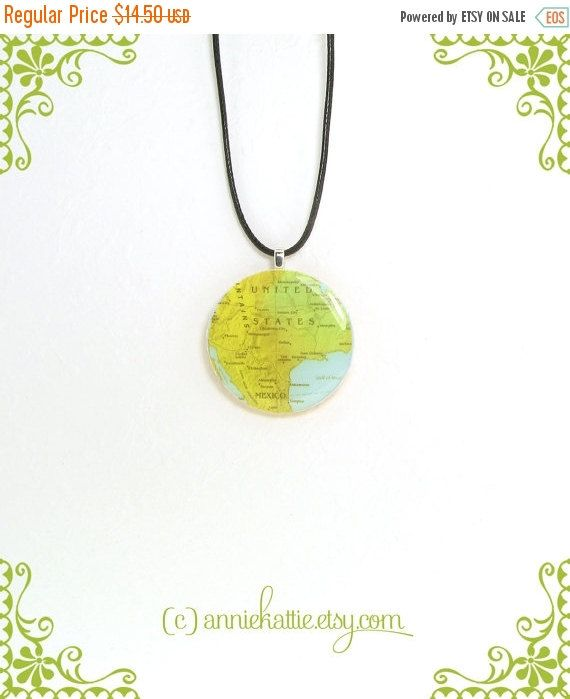 American map statement necklace