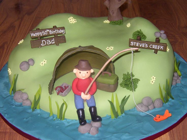The 25 best Fishing birthday cakes ideas on Pinterest Fishing