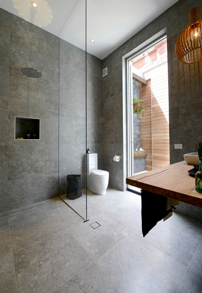 The Block: Bathrooms and Terrace   SAME TILE FLOOR AND WALL