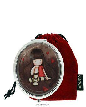 Gorjuss Oval Compact Mirror - The Collector