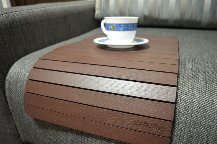 Деревянный коврик на подлокотник (шоколадный) #2i2ua , фото 2