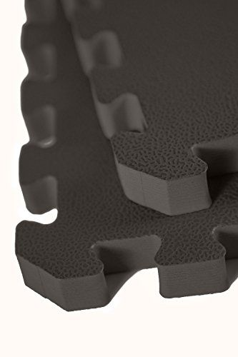 """IncStores - 1"""" MMA Interlocking Foam Tiles (Black) - Perfect for martial arts, lightweight home gyms, p90x, Insanity, gymnastics, yoga, cardio, aerobic, and plyometric exercises:   Our 1"""" MMA tiles are constructed of high density closed cell EVA foam which makes them very shock absorbent while being water/mold/mildew resistant and easy to clean. Our 1"""" MMA tiles come with 2 edge pieces, are easy to install, and typically ship the same or next business day./p *** Note:/b Foam products c..."""