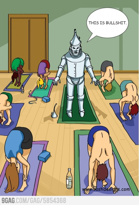 How everyone feels the first day of yoga