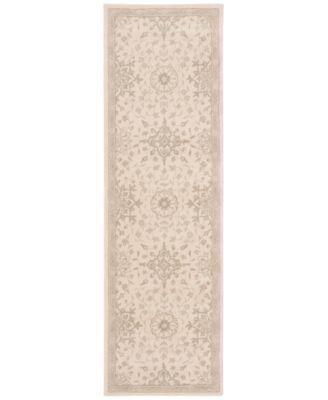 "kathy ireland Home Royal Serenity St. James Bone 2'3"" X 8' Runner Rug | macys.com"