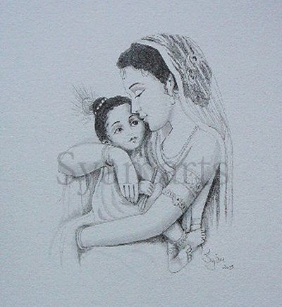 fond memories mother and child madonna original drawing prints available baby showers maternity pencil drawing art cards by syamarts on Etsy