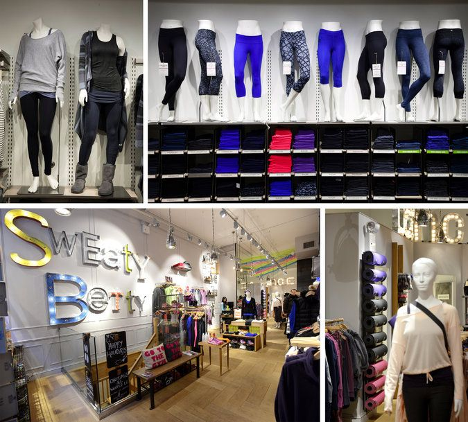 Refining the Fitness-Gear Trend For Fitness Gear and Workout Clothes, Sweaty Betty and Athleta