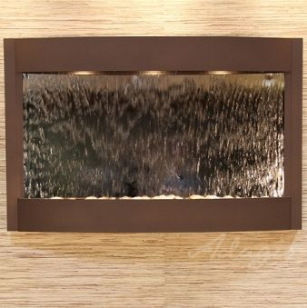 Indoor Wall Water Features - Calming Waters Mirror Wall Water Feature