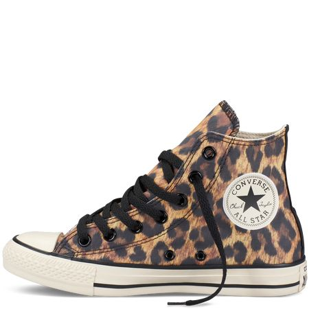 Leopard print converse. These are the most uncomfortable shoes but I love the leopard
