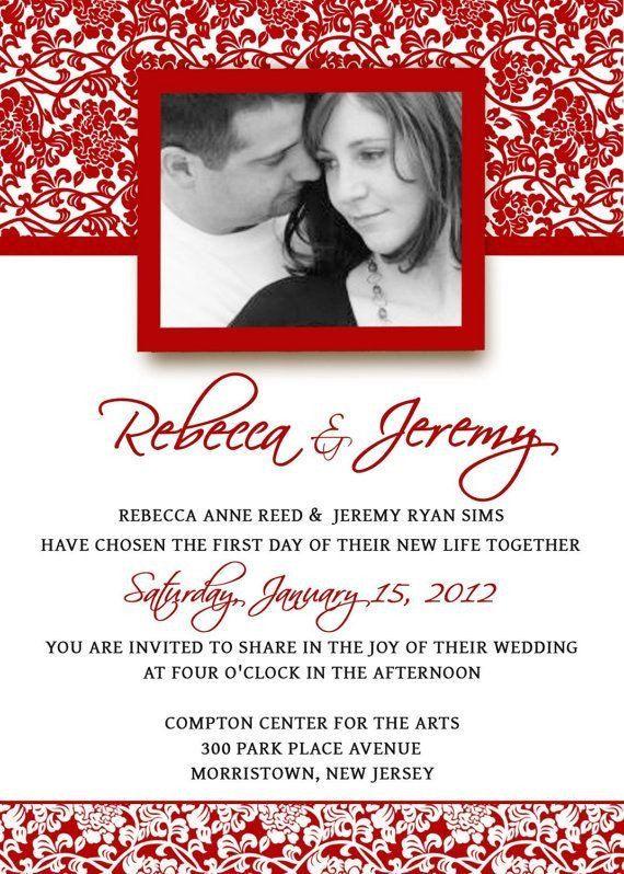 Wedding Invitation Templates Photoshop Wedding Invitation Template In 2020 Red Wedding Invitations Wedding Invitations Printable Templates Wedding Invitation Templates