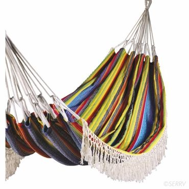 For Teens: A globally-minded high schooler can dream up ways to solve world hunger in this  hammock woven by artisan families in Ecuador. Mount it indoors for a quirky study nook. #FairTuesdayGifts