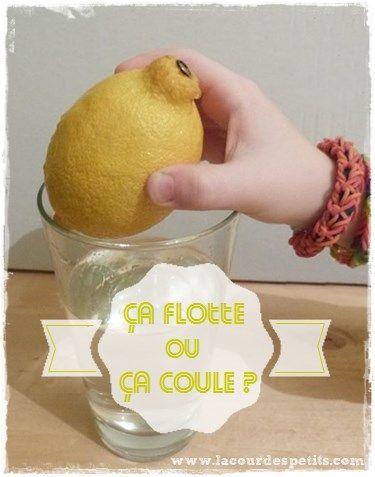 Expérience ludique et étonnante : le citron flotte ou pas... http://www.lacourdespetits.com/experience-ludique-citron-flotte-ou-coule/ #science #enfants #experience