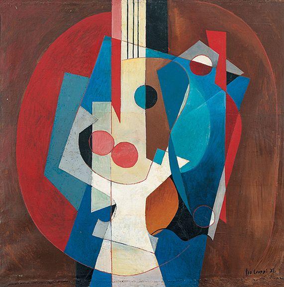"djinn-gallery: "" Leo Leuppi (1893-1972), Composition with Guitar, 1931 """