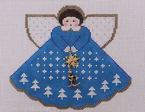 Painted Pony Designs Ski Babe Angel 959 Hand Painted Needlepoint Canvas | eBay