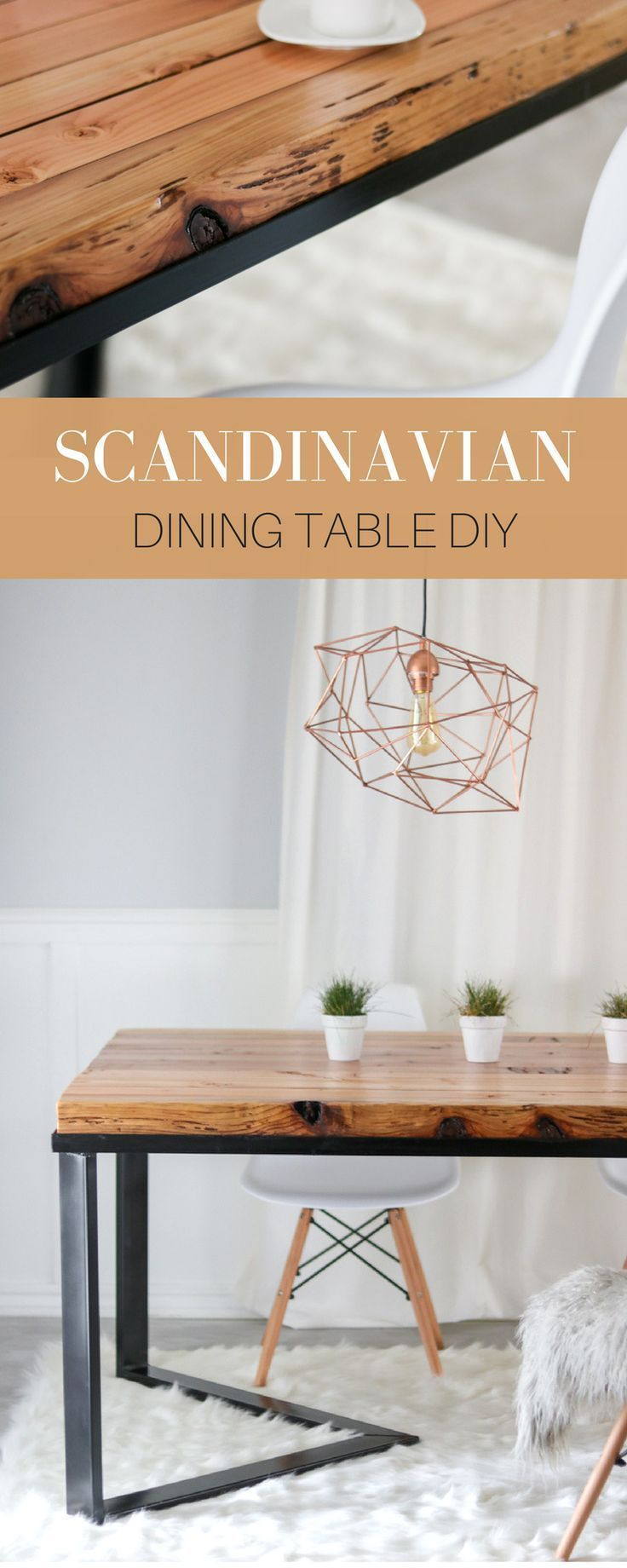 Diy Scandinavian Dining Table How We Made Our Dining Table For Under 60 Diningtablede Scandinavian Dining Table Diy Dining Room Table Diy Dining Table