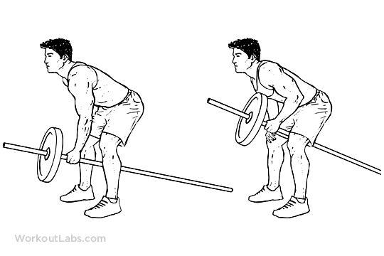One Arm Barbell Rows