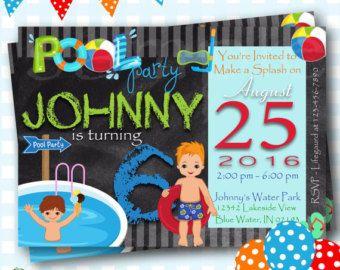 Pool Party Invitation Pool Party Birthday Invitation