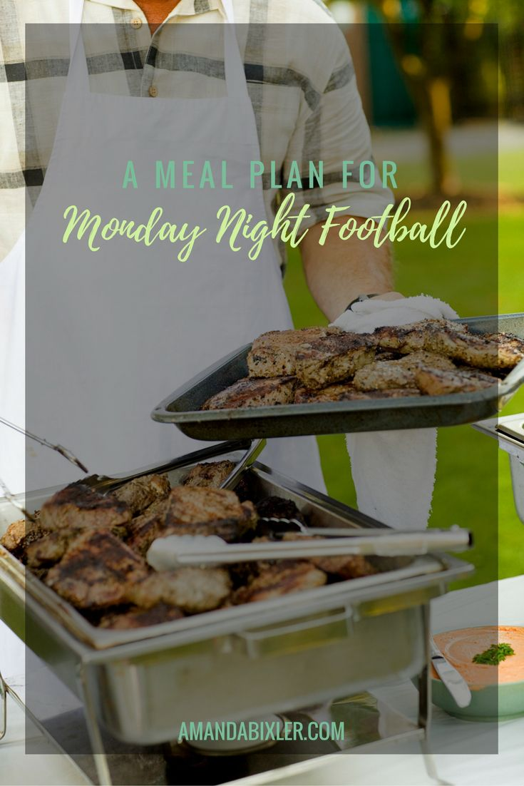 Do you love football? Are you looking for fun and unique recipes that might coordinate with the various hometowns being represented? Check out this meal plan for Monday Night Football! | amandabixler.com