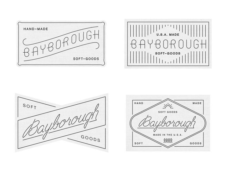 These would be good business card ideas. I like the bottom left as a business card. Labels Roughs by Anthony Lane