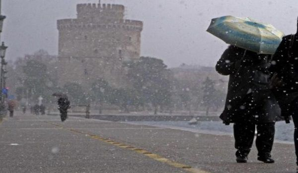 Snowy Thessaloniki...