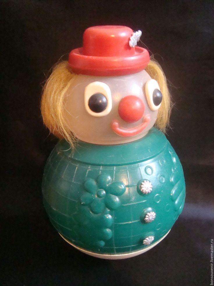 Купить Советская музыкальная игрушка -неваляшка для детей Веселый клоун - советская игрушка, старая игрушка