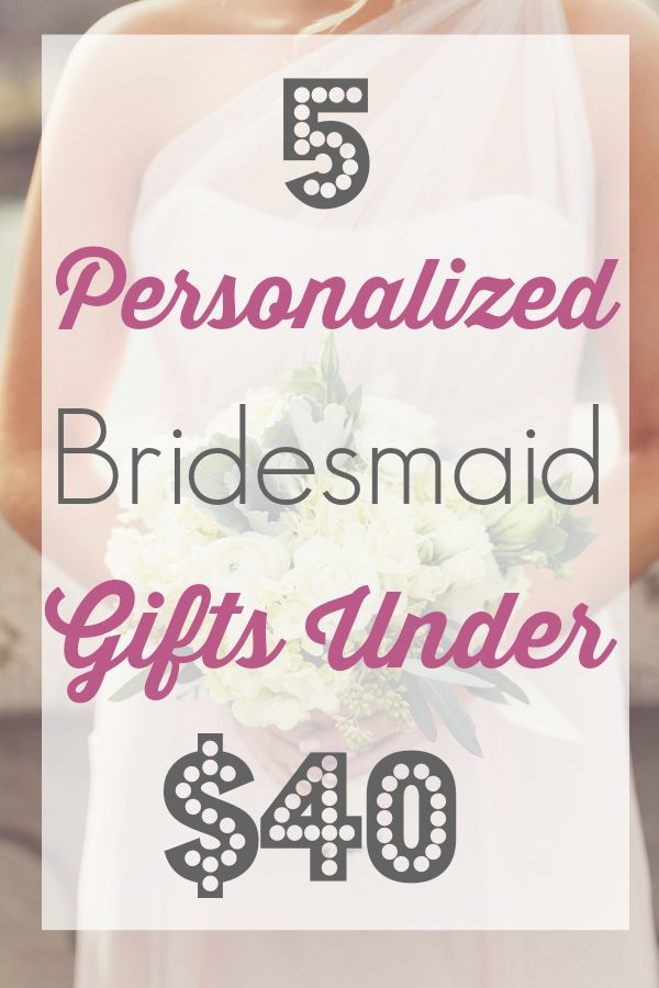 Personalized Bridesmaid Gifts Under $40 | Apple Brides