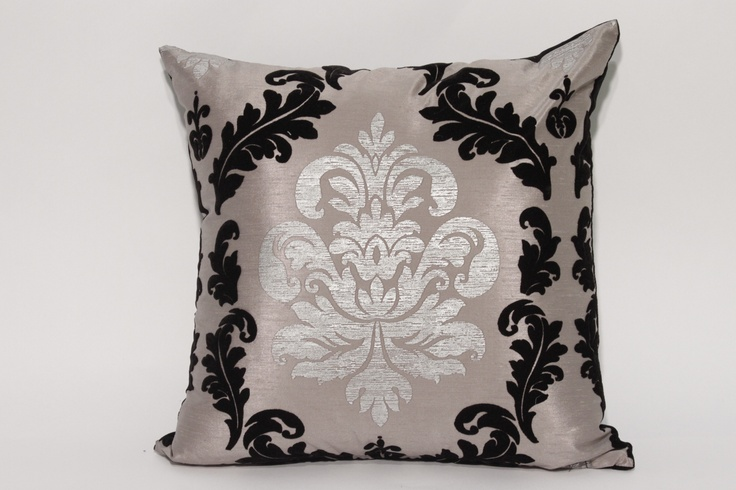 Boulevard Graphite Pillow  Custom made throw pillows with our  Boulevard fabric in our Graphite colour tone.   18'x18' $49.95   Other sizes and styles available.   Made in Canada