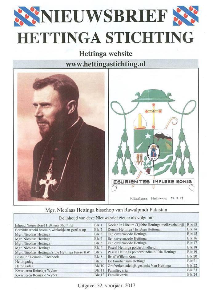 """Maikel Galama op Twitter: """"De nieuwste nieuwsbrief van de Hettinga Stichting is weer uit! Met een artikel over mijn heeroom Nicolaas Hettinga, bisschop in Pakistan. https://t.co/FPQLC2cjWY"""""""