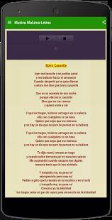 Musica Maluma Letras: miniatura de captura de pantalla