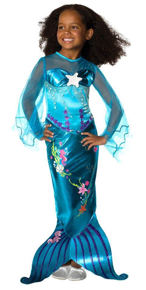 Girls Blue Mermaid Costume - Mermaid Costumes
