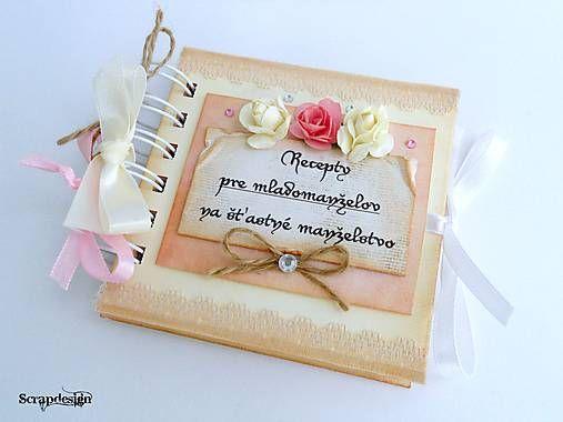 Scrapdesign / Mini knižka na recepty pre šťastné manželstvo wedding, scrapbooking