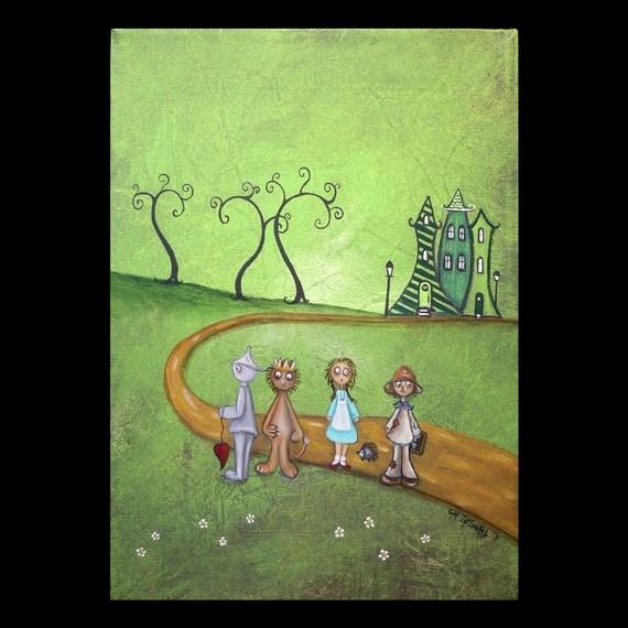I always enjoy artistic representations of the Wizard of Oz. :)