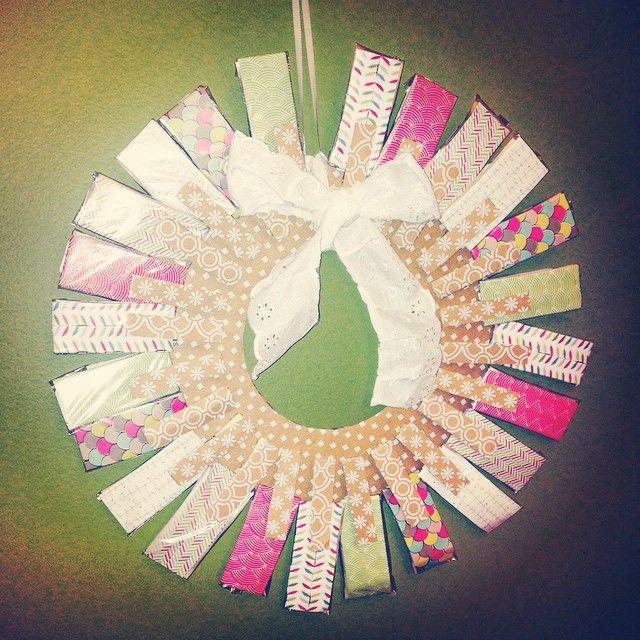 Such a cute and creative idea: a Steeped Tea advent wreath with a tea sample under each tab  Thanks Tina Chamberlain for sharing!