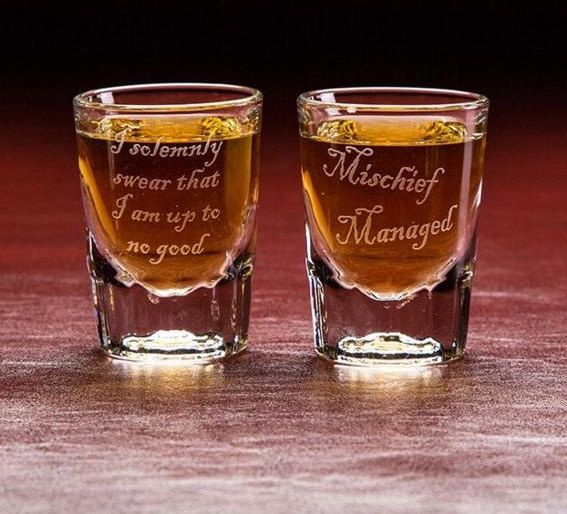 These mischievous shot glasses: | 31 Stocking Stuffers For Every Harry Potter Fan