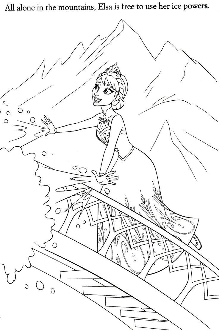 Frozen coloring pages let it go - Frozen Coloring Pages Elsa Let It Go
