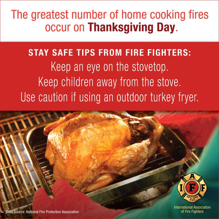 Thanksgiving safety public safety messages pinterest for 5 kitchen safety tips