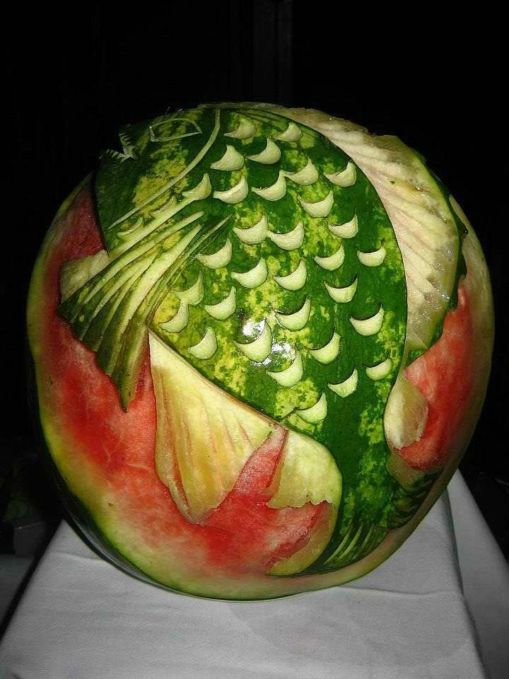 Best images about fruit sculptures food art on