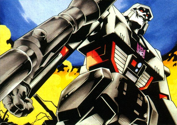 "monzo12782: "" Image of Megatron drawn by the ever-amazing Yoshioka, created for a Japanese laserdisc or DVD release of the original Transformers cartoon. The thing that jumps out to me about this image is, oddly, Megatron's lack of nostrils. Scanned..."
