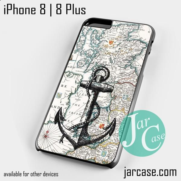 nautica map and anchor Phone case for iPhone 8 | 8 Plus