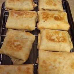 Baked Chicken Chimichangas - Making this tonight!  Mmmmmm.  Was easy prep, getting ready to put in oven.